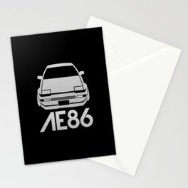 Toyota AE86 Hachi Roku - silver - Stationery Cards