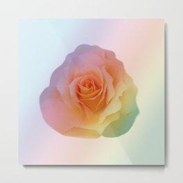 Rainbow rose of joy Metal Print