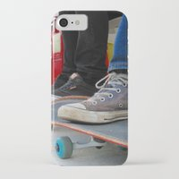 skateboard iPhone & iPod Cases featuring Skateboard by Mechanical Kayla