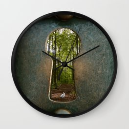 Alice in Wonderland Follow Me Wall Clock