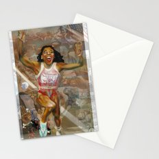 AMERICA ON HER BACK Stationery Cards