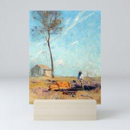 Arthur Streeton The Selector's Hut Whelan on the Log Mini Art Print