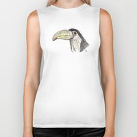 toucan Biker Tanks featuring Toucan by Ursula Rodgers