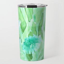 Soft Watercolor Floral Travel Mug