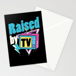 Raised By TV Watching Television Movie Show Gift Stationery Cards