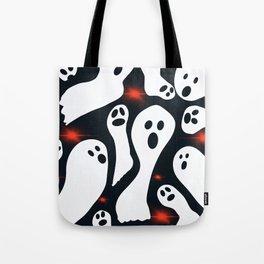 Glowy Ghosts #Halloween #Holiday Tote Bag