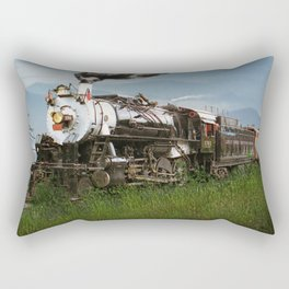 Smokey Mountain Railway Steam Locomotive Rectangular Pillow