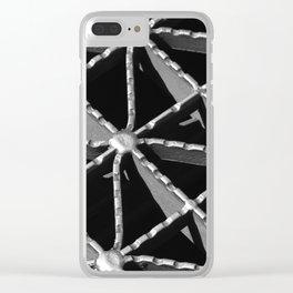 Grate Pattern Clear iPhone Case