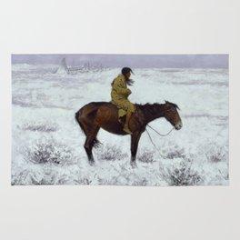 "Frederic Remington Western Art ""The Herd Boy"" Rug"