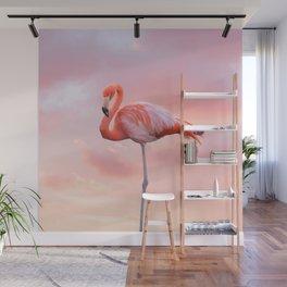 Pink Flamingo Sunset Wall Mural