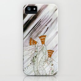 Three Princesses Amazed By Snowstorm iPhone Case