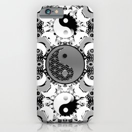 YinYang Sacred Geometry Totem iPhone Case