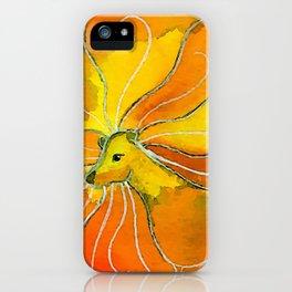 Leo Zodiac Horoscope Painting iPhone Case