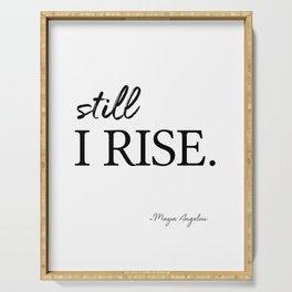 I'll rise #minimalism 3 Serving Tray