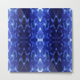 Ikat Shibori Blues Metal Print