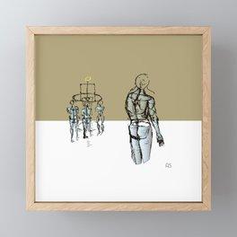Glass people Framed Mini Art Print