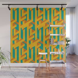 Isometric Cubes Wall Mural