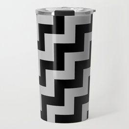 Black and Gray Steps RTL Travel Mug