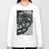 bike Long Sleeve T-shirts featuring bike by gzm_guvenc