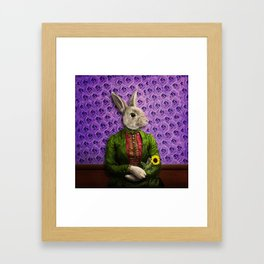 Miss Bunny Lapin in Repose Framed Art Print