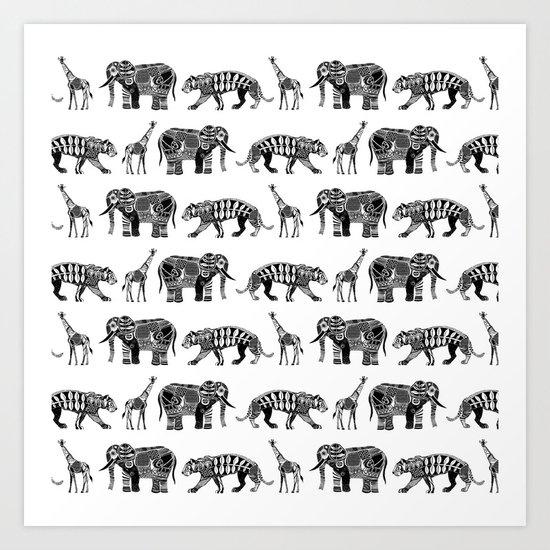 graphic zoo Art Print