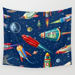 rockets in traffic Wall Tapestry