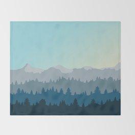Face This Mountain (No Text) Throw Blanket