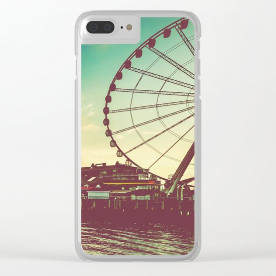 Seattle Pike Place Market Pier 57 Clear iPhone Case