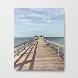 Naples Pier Metal Print