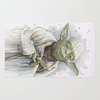 yoda Area & Throw Rugs featuring Yoda  by Olechka