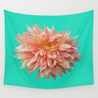 jewish Wall Tapestries featuring Flower Petals by Brown Eyed Lady