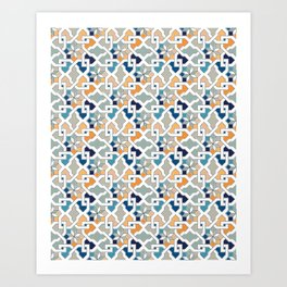 Geometric Pattern - Oriental Design Art Print