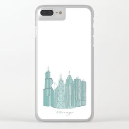 Chicago Architecture Clear iPhone Case