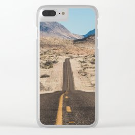 High Desert Highway Clear iPhone Case