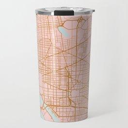 Washington DC map Travel Mug