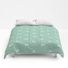 Mint rabbits Comforters