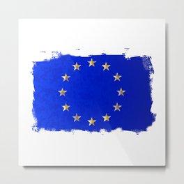 EU Flag Metal Print