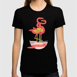 The intertwined pink flamingos T-shirt