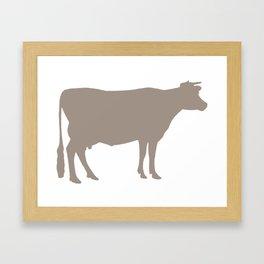 Cow: Beige Framed Art Print