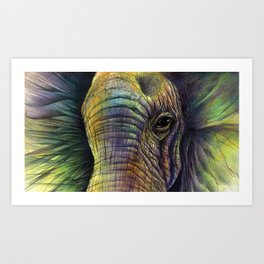 Elephaceted Art Print