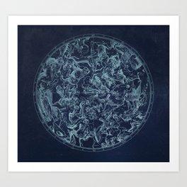Vintage Constellation & Astrological Signs Art Print