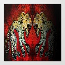 Scythian Tigers by Sheridon Rayment Canvas Print