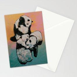 Panda Street Fight Stationery Cards