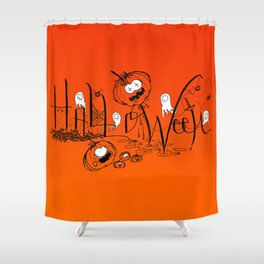 Happy and Terrific Halloween Shower Curtain