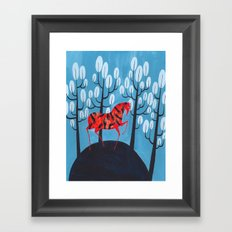 Smug red horse Framed Art Print