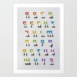 Papercut Alphabet Art Print