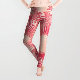 Pink Tropical Coins #society6 #decor #buyart Leggings