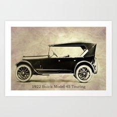 1922 Buick Touring Art Print