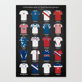 The Evolution Of The Us World Cup Soccer Jersey Canvas Print