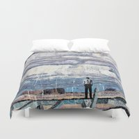depression Duvet Covers featuring Depression by Rothko